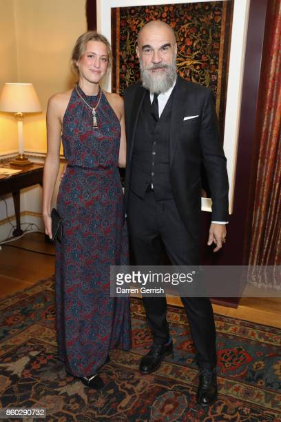 Kea Longoni and Giampiero Bodino attend Giampiero Bodino's 'Beauty Is My Favourite Colour' cocktails and dinner evening at Spencer House on October...