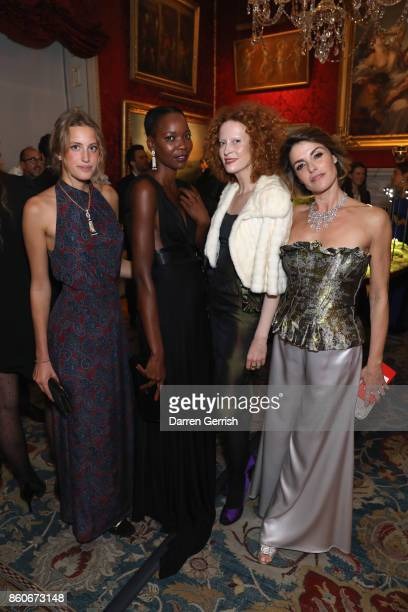 Kea Longoni Ophelia Kumbe SaimiHoyer and Maria Mantero attend Giampiero Bodino's 'Beauty Is My Favourite Colour' cocktails and dinner evening at...