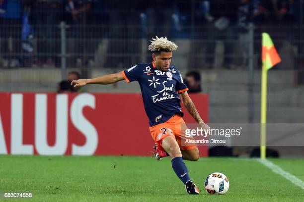 Keagan Dolly of Montpellier during the Ligue 1 match between Montpellier and Olympique Lyonnais Lyon at Stade de la Mosson on May 14 2017 in...