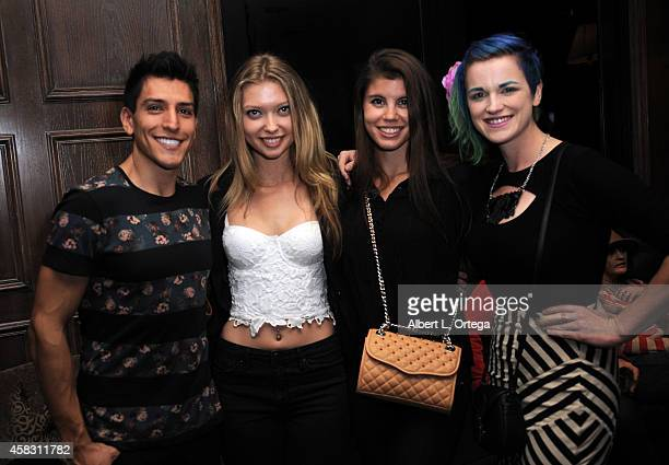 Keaghlan Ashley and guests attend the Season Finale For SyFy Channel's 'Faceoff' Season 7 Viewing Party held at The Parlor on October 28 2014 in West...