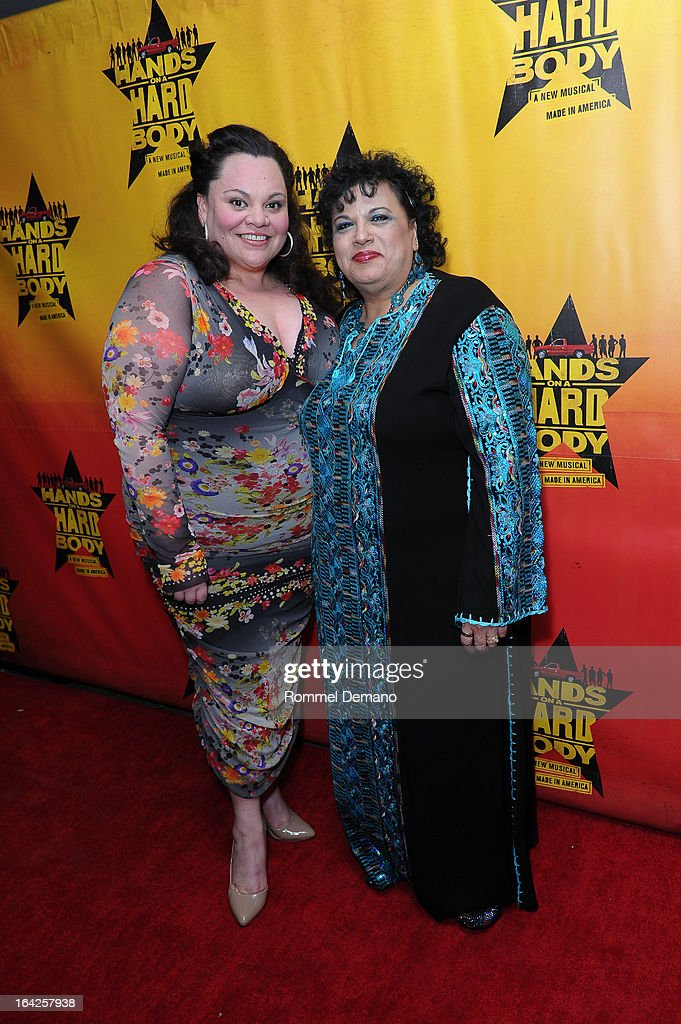 Keala Settle and Norma Valverde attend 'Hands On A Hard Body' Broadway Opening Night After Party at Roseland Ballroom on March 21, 2013 in New York City.