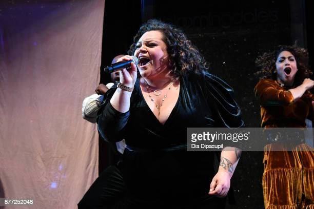 Keala Settle performs onstage during the 2017 Bloomingdale's Holiday Windows Unveiling at Bloomingdale's on November 21 2017 in New York City