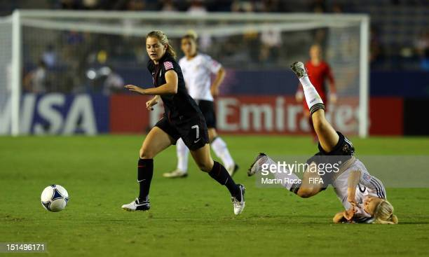 Kealia Ohai of USA and Leonie Maier of Germany battle for the ball during the FIFA U20 Women's World Cup Japan 2012 Final match between USA and...