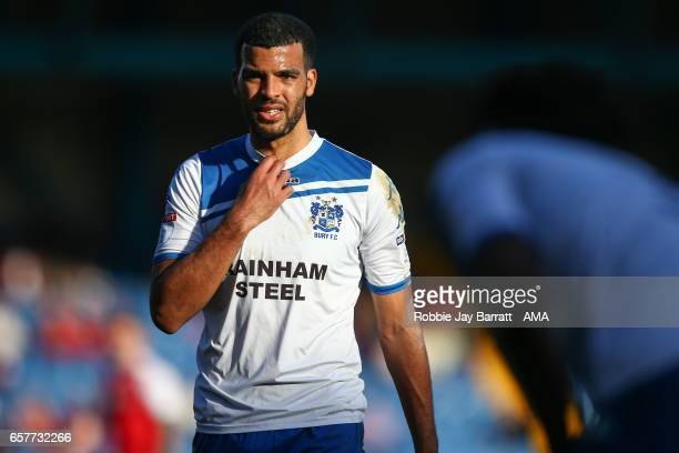 Kean Bryan of Bury during the Sky Bet League One match between Bury and Fleetwood Town at Gigg Lane on March 25 2017 in Bury England