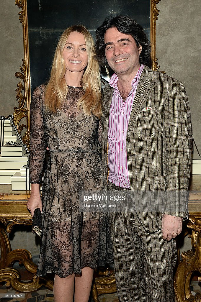 Kean Etro and Constanza Etro attend the 'Jo Malone London Scented' Dinner at Palazzo Crespi on November 26, 2013 in Milan, Italy.