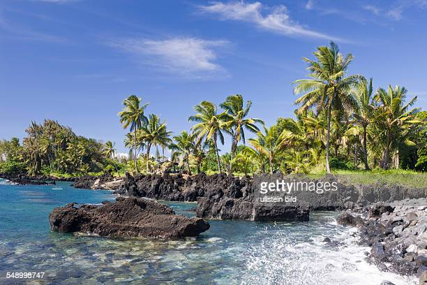 Keanae Point at Road to Hana Maui Hawaii USA
