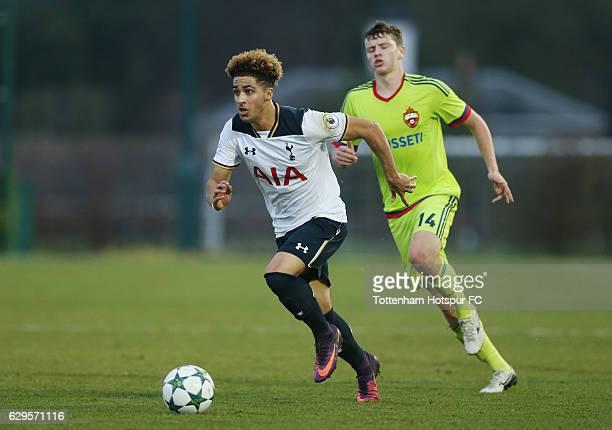 Keanan Bennetts of Tottenham during the UEFA Youth Champions League match between Tottenham Hotspur FC and PFC CSKA Moskva at Tottenham Hotspur...