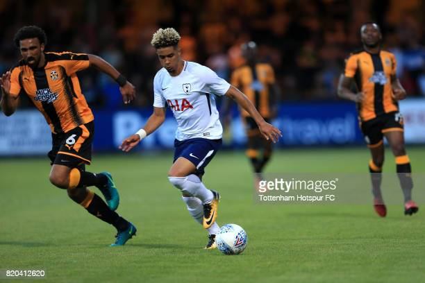 Keanan Bennetts of Tottenham Hotspur during the pre season friendly match between Cambridge United and Tottenham U23 at Cambs Glass Stadium on July...