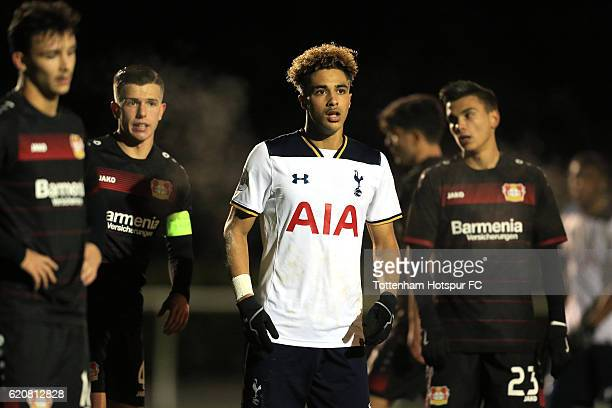 Keanan Bennetts of Tottenham Hotspur during the UEFA Youth League match between Tottenham Hotspur and Bayer Leverkusen at the Tottenham Hotspur...