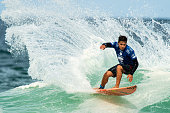 Keanu Asing of Hawaii surfs during his Round 3 heat at the Oi Rio Pro on May 15 2015 in Rio de Janeiro Brazil