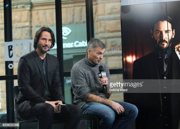 Keanu Reeves and Chad Stahelski appear to promote 'John Wick Chapter 2' during the BUILD Series at Build Studio on February 2 2017 in New York City