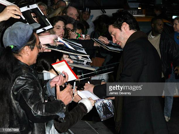 Keanu Reeves and fans during Keanu Reeves Visits the 'Late Show with David Letterman' October 29 2003 at Ed Sullivan Theater in New York City New...