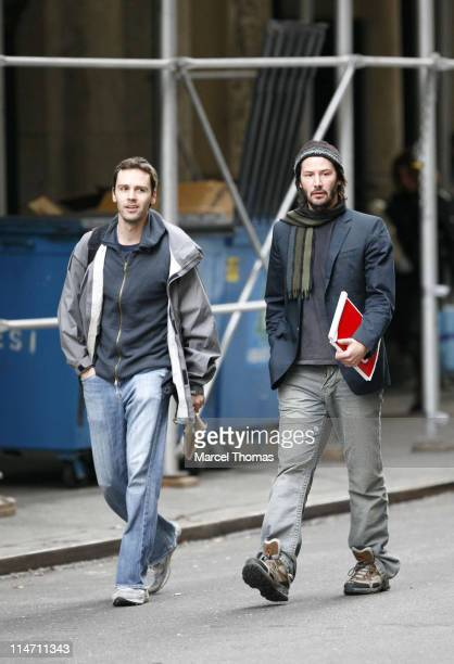 Keanu Reeves and friend during Keanu Reeves Sighting in New York City October 23 2006 at Chelsea in New York City New York United States