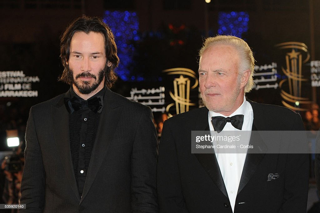 Keanu Reeves and James Caan attend the Opening Ceremony of the Marrakech 10th Film Festival.
