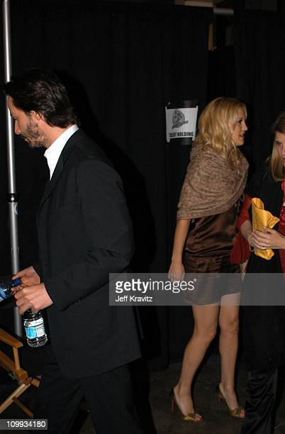 Keanu Reeves and Kate Hudson during 2003 MTV Movie Awards Backstage and Audience at The Shrine Auditorium in Los Angeles California United States