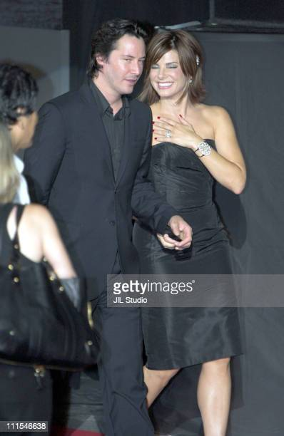 Keanu Reeves and Sandra Bullock during 'The Lake House' Tokyo Premiere Stage Greeting at Roppongi Hills Arena in Tokyo Japan