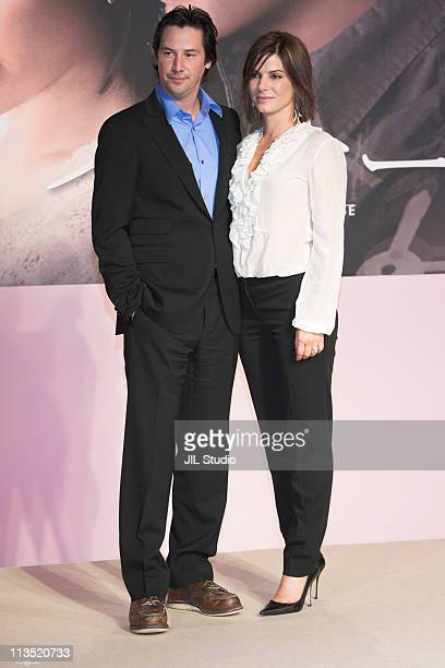 Keanu Reeves and Sandra Bullock during 'The Lake House' Tokyo Press Conference at Grand Hyatt Tokyo in Tokyo Japan