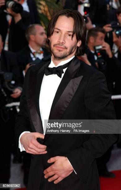 Keanu Reeves arriving for the premiere of The Matrix Reloaded at the Palais des Festival in Cannes France