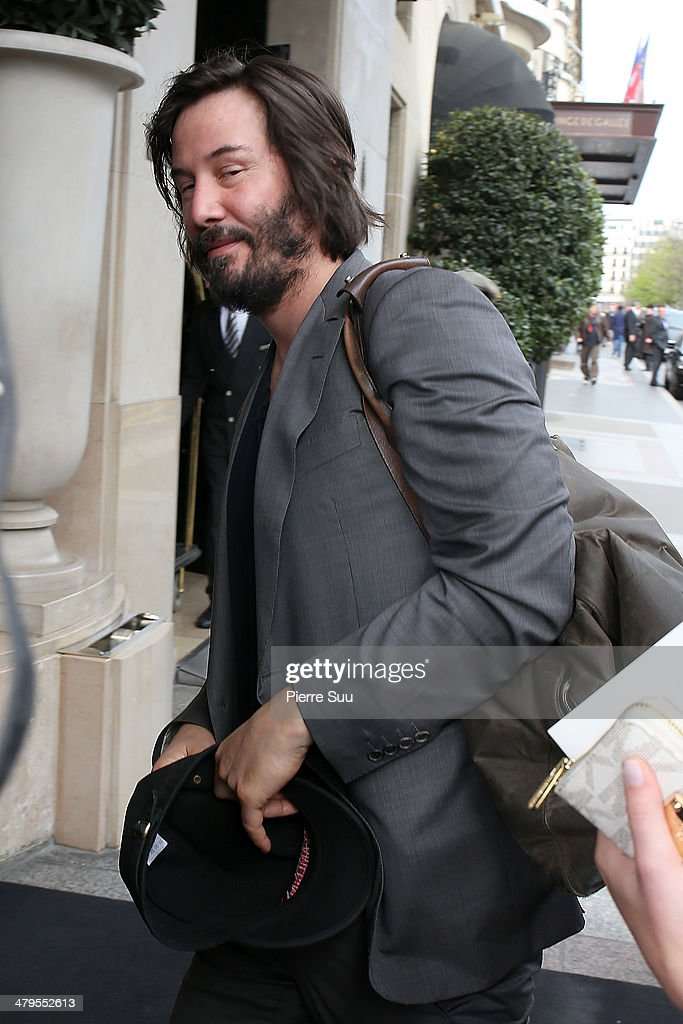<a gi-track='captionPersonalityLinkClicked' href=/galleries/search?phrase=Keanu+Reeves&family=editorial&specificpeople=171568 ng-click='$event.stopPropagation()'>Keanu Reeves</a> at his hotel on March 19, 2014 in Paris, France.