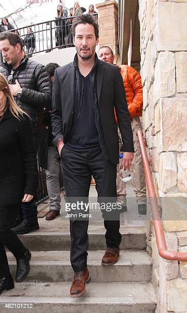 Keanu Reeves attends Columbia At The Village At The Lift on January 24 2015 in Park City Utah
