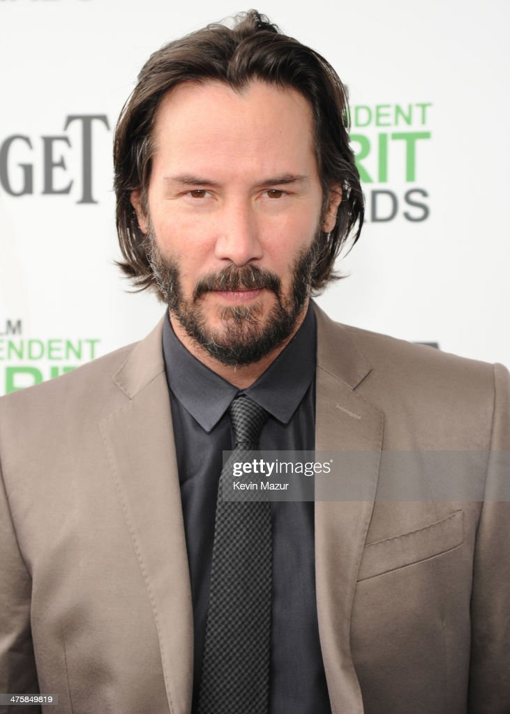 Keanu Reeves attends the 2014 Film Independent Spirit Awards at Santa Monica Beach on March 1, 2014 in Santa Monica, California.