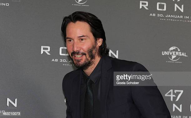 Keanu Reeves attends the '47 Ronin' photocall at Hotel Bayerischer Hof on January 17 2014 in Munich Germany
