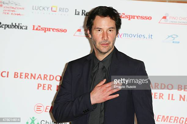 Keanu Reeves attends the 'Bernardo Bertolucci Per Il Nepal' Charity Event at Auditorium Parco Della Musica on May 28 2015 in Rome Italy
