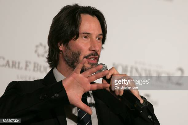Keanu Reeves attends the Japan premiere of 'John Wick Chapter 2' at Roppongi Hills on June 13 2017 in Tokyo Japan