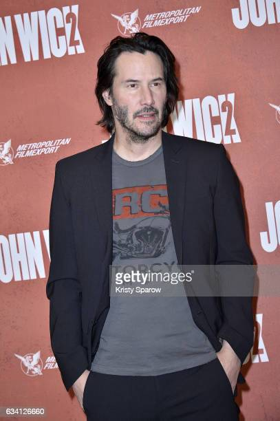 Keanu Reeves attends the 'John Wick 2' Paris Premiere at Hotel Ritz on February 7 2017 in Paris France