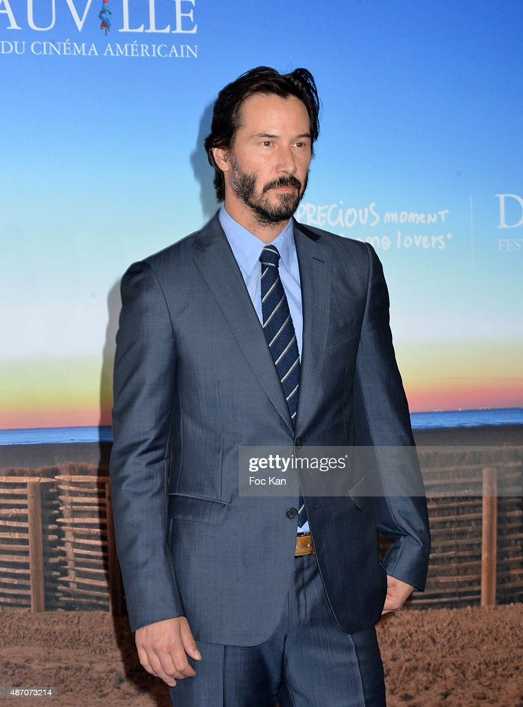 Keanu Reeves attends the 'Knock Knock' Red Carpet 41st Deauville American Film Festival at the CID on September 5 2015 in Deauville France