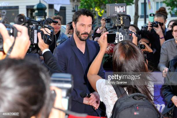 Keanu Reeves attends the Man of Tai Chi Paris Premiere during Day 4 of the Champs Elysees Film Festival on June 14 2014 in Paris France