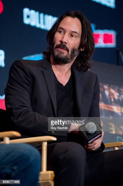 Keanu Reeves discusses 'Replicas' during 2017 New York Comic Con Day 1 on October 5 2017 in New York City