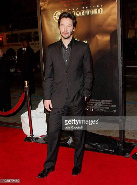 Keanu Reeves during 'Constantine' Los Angeles Premiere Arrivals at Grauman's Chinese Theater in Hollywood California United States