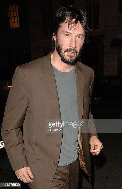 Keanu Reeves during Keanu Reeves Sighting at Nobu in London July 28 2005 at Nobu Restaurant in London Great Britain