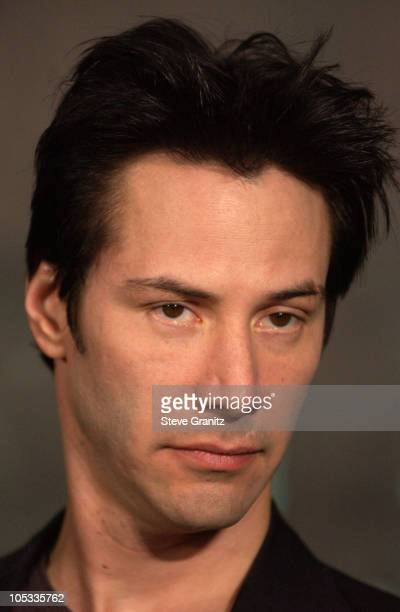 Keanu Reeves during Los Angeles Press Conference with The Cast of 'The Matrix Revolutions' at Disney Concert Hall in Los Angeles California United...