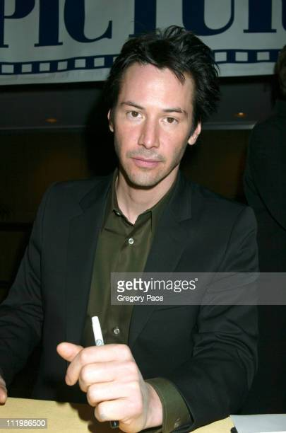 Keanu Reeves during The 63rd Annual Motion Picture Club Awards and Installation Luncheon at Marriot Marquis in New York City New York United States
