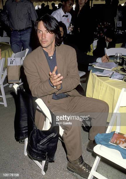 Keanu Reeves during The 8th Annual IFP/West Independent Spirit Awards at Santa Monica Beach in Santa Monica California United States