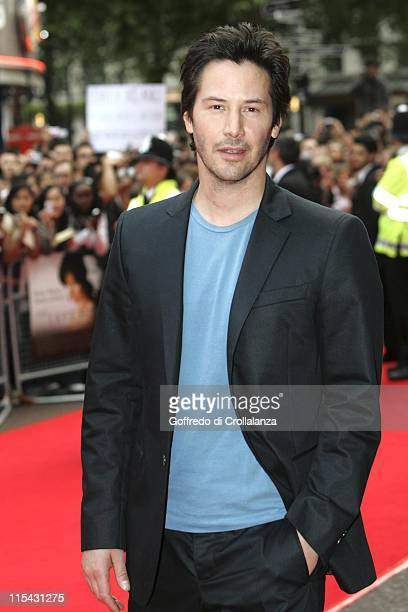 Keanu Reeves during 'The Lake House' London Premiere Outside Arrivals at Vue West End in London Great Britain