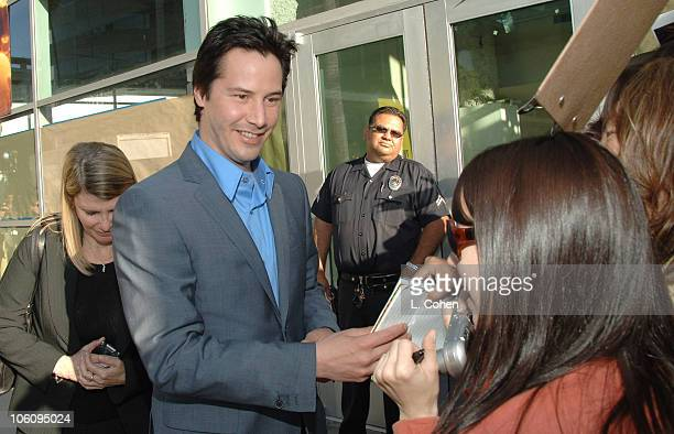Keanu Reeves during 'The Lake House' Premiere Red Carpet at Cineramadome in Los Angeles California United States