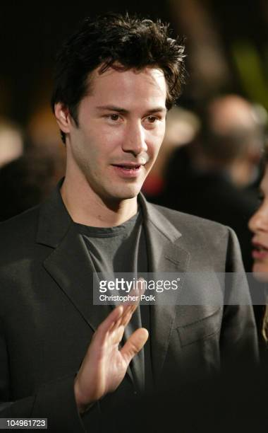 Keanu Reeves during 'The Matrix Reloaded' DVD Release Party Arrivals at Morton's Resturant in West Hollywood California United States