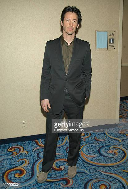 Keanu Reeves during The Motion Picture Club Hosts 63rd Annual Awards and Installation Luncheon at Marriot Marquis in New York City New York United...