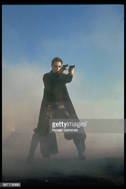 Keanu Reeves in the 1999 movie The Matrix
