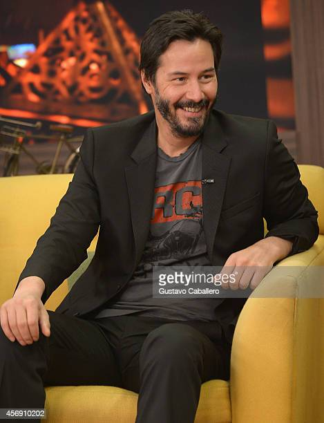 Keanu Reeves is on the set of Despierta America at Univision Headquarters on October 9 2014 in Miami Florida