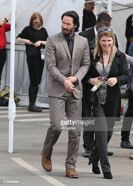 Keanu Reeves is seen arriving at the 2014 Film Independent Spirit Awards on March 1 2014 in Santa Monica California