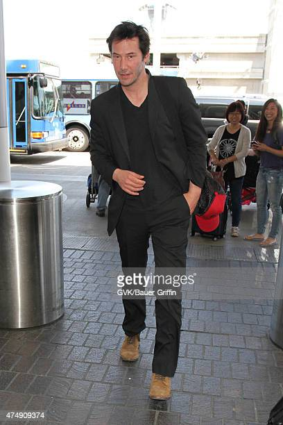 Keanu Reeves is seen at LAX on May 27 2015 in Los Angeles California