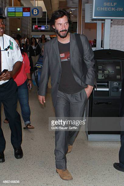 Keanu Reeves is seen at LAX on September 02 2015 in Los Angeles California