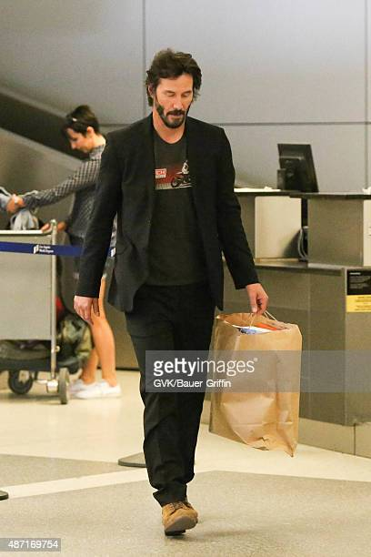 Keanu Reeves is seen at LAX on September 06 2015 in Los Angeles California