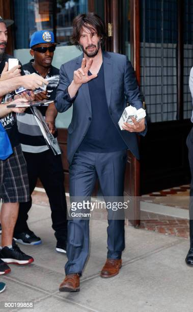Keanu Reeves is seen on June 23 2017 in New York City