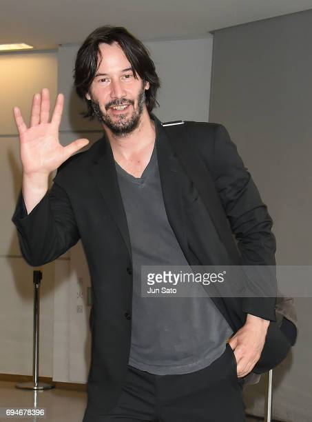 Keanu Reeves is seen upon arrival at Narita International Airport on June 11 2017 in Narita Japan