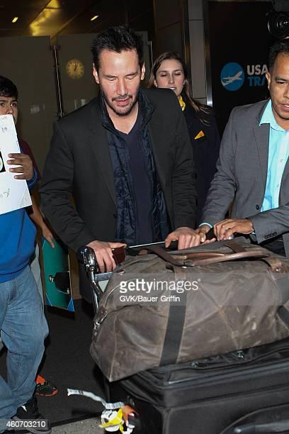 Keanu Reeves seen at LAX on December 19 2014 in Los Angeles California